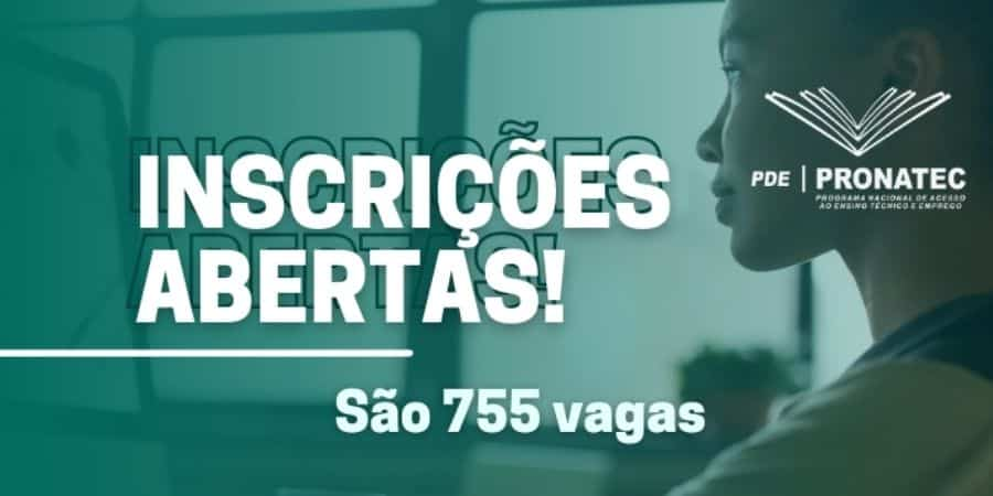755 vagas em cursos gratuitos do pronatec
