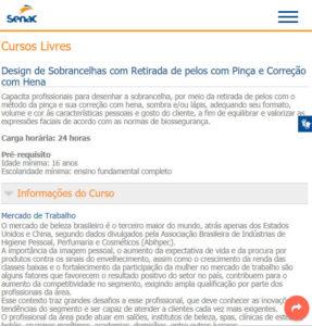 ilustração de como se inscrever no site oficial do Senac