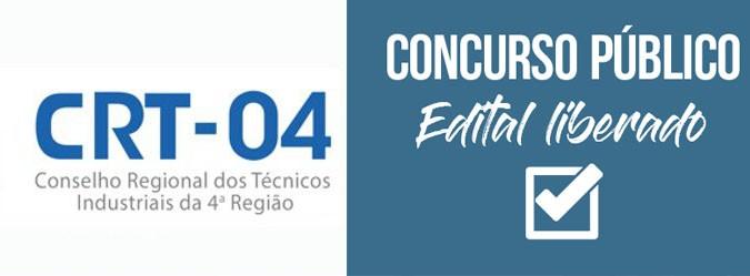 Conselho Regional dos Técnicos Industriais da 4ª Região concurso aberto
