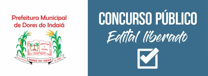 Prefeitura de Dores do Indaiá concurso aberto