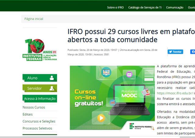 site-cadastro-ifro