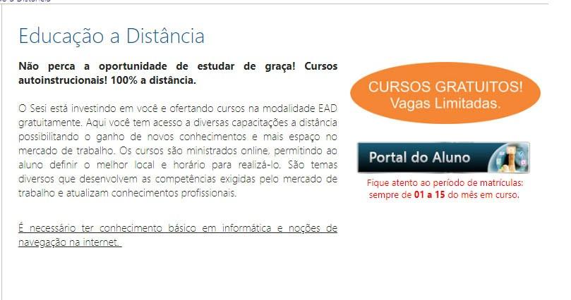 IEL e Sesi oferecem cursos gratuitos e online em Pernambuco
